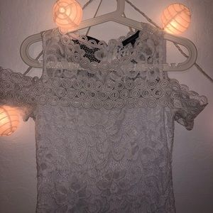 White lace mid dress